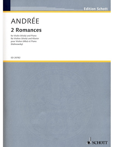 HAL LEONARD Andree, E. (Kalinowsky, ed.): 2 Romances (violin or viola and piano)