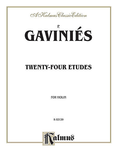 Alfred Music Gavinies: 24 Etudes (violin)