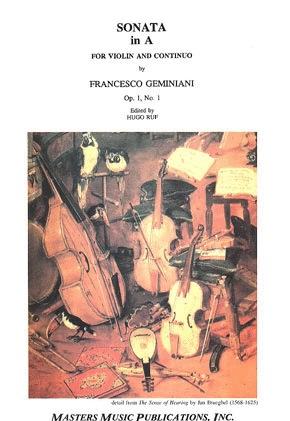 LudwigMasters Geminiani, Francesco: Sonata Op.1#1 in A (violin & piano)