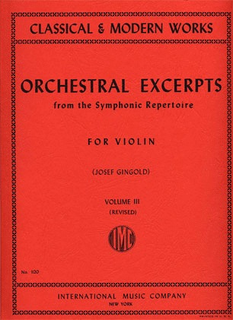 International Music Company Gingold, J.: Orchestral Excerpts Vol.3 revised (violin) IMC