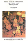 LudwigMasters Ornstein, Leo: 3 Russian Impressions Op.37 (violin & piano)