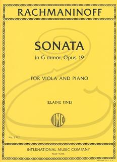 International Music Company Rachmaninoff (Fine): Sonata in G minor, Op.19 (viola & piano) IMC