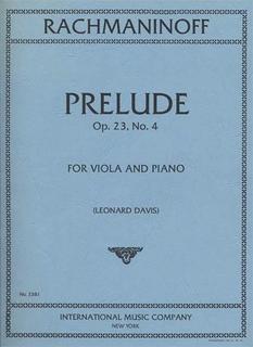 International Music Company Rachmaninoff, Sergei: Prelude Op.23 No. 4 (viola & piano)
