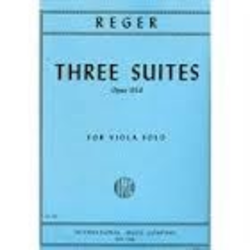 International Music Company Reger, Max: Three Suites, Op.131d for Viola Solo
