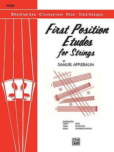 Alfred Music Applebaum, S.: First Position Etudes for Strings (violin)