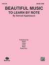 Alfred Music Applebaum: Beautiful Music To Learn by Rote (violin)