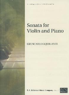 ECS Publishing Aquilanti, Giancarlo: Sonata for Violin and Piano