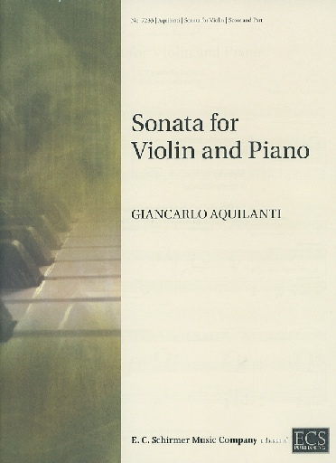ECS Publishing Aquilanti, Giancarlo: Sonata for Violin and Piano