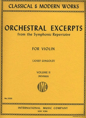 International Music Company Gingold, J.: Orchestral Excerpts Vol. 2 revised (violin) IMC