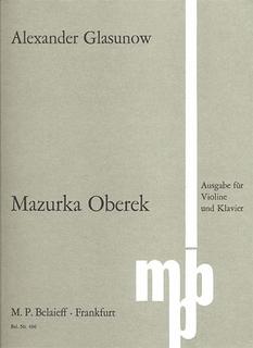 Glazunov, Alexander: Mazurka Oberek (violin & piano)
