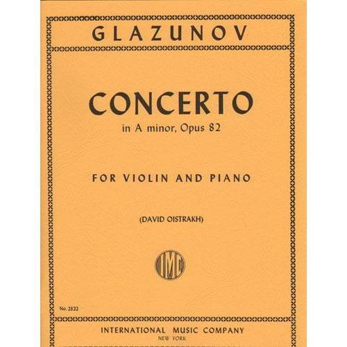 International Music Company Glazunov, Alexander (Oistrakh): Concerto in A minor Op.82 (violin & piano)