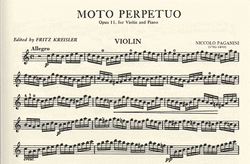 International Music Company Paganini, Niccolo (Kreisler): Moto Perpetuo Op.11 (violin & piano)
