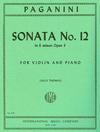 International Music Company Paganini, Niccolo: Sonata No. 12 in E minor Op.3 (violin & piano)
