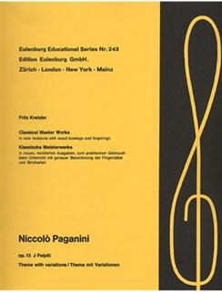 Edition Eulenburg Paganini (Kreisler): Palpiti Op.13 (violin & piano)