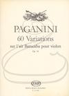 HAL LEONARD Paganini (Devich): 60 Variations sur l'air Barucaba, Op.14 (violin) Editio Musica Budapest