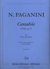 Paganini (Butorac): Cantabile in D Major, Op.17 (violin & piano) Edition Butorac