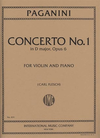 International Music Company Paganini, N. (Flesch/Sauret): Concerto No.1 in D major, Op.6 (violin & piano) IMC
