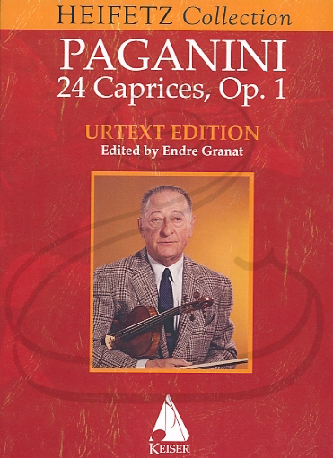 HAL LEONARD Paganini (Granat/Heifetz): 24 Caprices - URTEXT (violin) Keisler