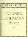 Paganini/Schumann (Schunemann): Piano Accompaniment for the Caprises, Vol. 2 (no seperate violin part) Edition Peters