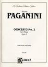 Alfred Music Paganini, Niccolo: Concerto #2 Op.7 in Bm (violin & piano)