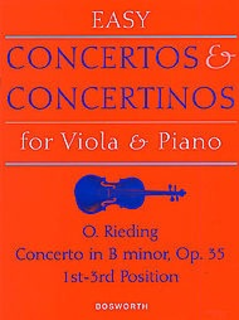 Bosworth Rieding, O.: Viola Concerto Op.35 in B minor (viola & piano)