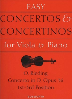 Bosworth Rieding, O.: Viola Concerto Op.36 in D major (viola & piano)