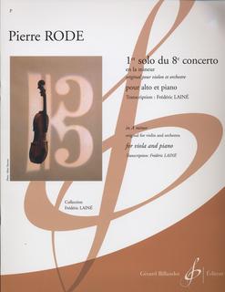 Carl Fischer Rode, Pierre (Laine): Concerto # 8 in a minor, originally for violin, transcribed for viola and piano.
