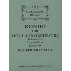 Rarities for Strings Rolla, Alessandro (Trampler): Rondo in G for Viola & Piano