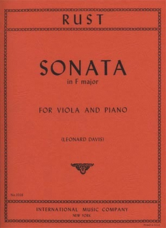 International Music Company Rust, F.W.: Sonata in F Major (viola & piano)