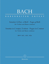 Barenreiter Bach, J.S.: Sonatas in G major, E-minor, Fugue in G minor (BWV 1021, BWV 1023, BWV 1026)