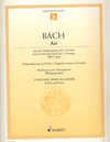 HAL LEONARD Bach, J.S. (Birtel): Air from the Orchestra Suite No. 3 in D Major, BWV1068 (violin & piano)
