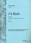 Bach, J.S. (Hofmann): Concerto #1 in a minor BWV 1041