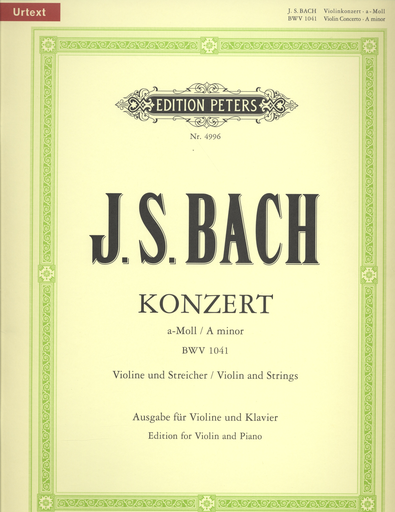 Bach, J.S.: Concerto #1 in a minor (violin & piano)