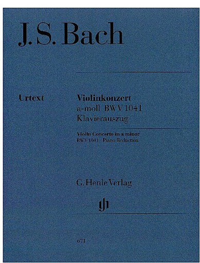 HAL LEONARD Bach, J.S. (Eppstein, ed.): Concerto No.1 in A Minor, BWV 1041, urtext (violin & piano)