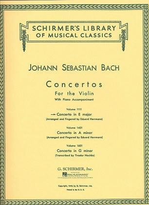 HAL LEONARD Bach, J.S. (Herrmann): Concerto in E Major, BWV1042 (violin, and piano reduction)
