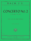 International Music Company Bach (Galamian): Concerto No.2 in E Major, S.1042 (violin & piano)