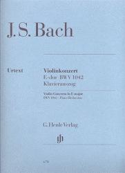 HAL LEONARD Bach, J.S. (Eppstein, ed.): Concerto No. 2 in E Major , BWV 1042, urtext (violin and piano)