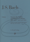 HAL LEONARD Bach, J.S. (Eppstein): 3 Sonatas, BWV1020, 1021, & 1023 - URTEXT (violin & harpsichord) Henle Verlag