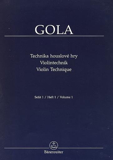 Barenreiter Gola, Zdenek: Violin Technique, Vol. 1