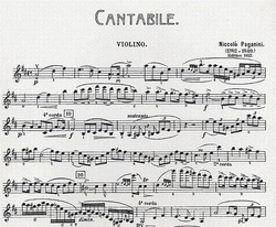 Carl Fischer Paganini, Niccolo: Cantabile (violin & piano)