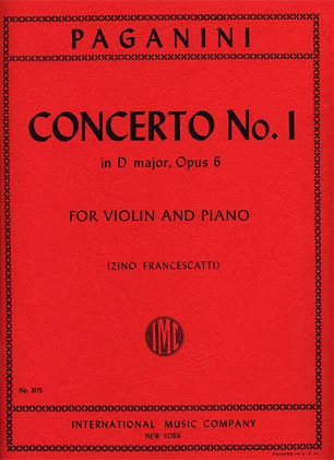 International Music Company Paganini, Niccolo (Fracescatti/Sauret): Concerto No. 1 D major, Op.6 (violin & piano)
