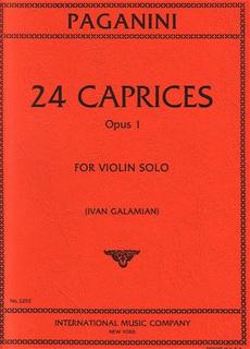 International Music Company Paganini, N. (Galamian): Caprices, Op.1 (violin)