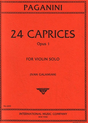 International Music Company Paganini, N. (Galamian): Caprices, Op.1 (violin)