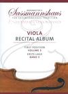 Barenreiter Barenreiter (Lusk/Sassmannshaus): (collection/score/parts) Viola Recital Album, Vol.3 - ARRANGED (viola & piano/2 violas) Barenreiter