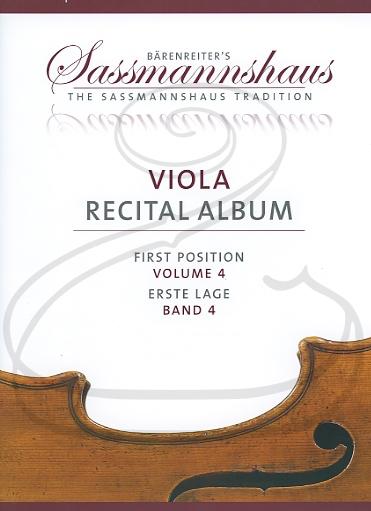 Barenreiter Barenreiter (Lusk/Sassmannshaus): (collection/score/parts) Viola Recital Album, Vol.4 - ARRANGED (viola & piano/2 violas) Barenreiter