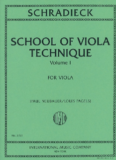 International Music Company Schradieck (Neubauer/Pagels, ed.): School of Viola Technique, Vol. 1 (viola) IMC