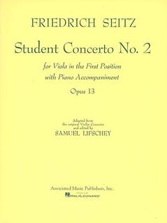 HAL LEONARD Seitz, F. (Lifschey): Student Concerto No.2, Op.13 (viola & piano)