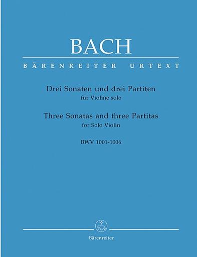 Barenreiter Bach, J.S.: Three Sonatas & Three Partitas for Solo Violin-Barenreiter Urtext