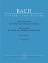 Barenreiter Bach, J.S.: 6 Violin Sonatas, Volume 1 (I-III) (Sonatas I-III)