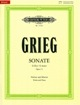 Grieg, Edvard (Benestad): Sonate (Sonata) Op. 13 in G major, urtext (violin & piano)